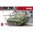 Germany WWII E-75 SPG GUN with 128/L55, Modelcollect...